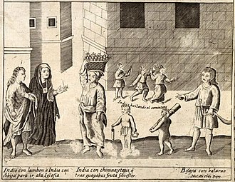 Filipinos - Native Filipinos as illustrated in the Carta Hydrographica y Chorographica de las Yslas Filipinas (1734)