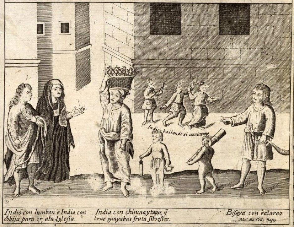 Indios, detail from Carta Hydrographica y Chorographica de las Yslas Filipinas 1734