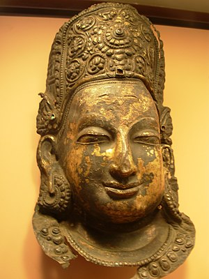 Indra Nepal, 13th-14th century. Copper repouss...