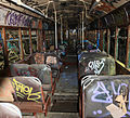 Inside a vandalised sydney tram in glebe depot.jpg
