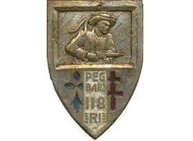 Insigne régimentaire du 118e régiment d'infanterie
