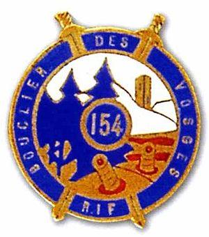 Fortified Sector of the Vosges - Image: Insigne régimentaire du 154e régmet d'infanterie de forteresse (1939)