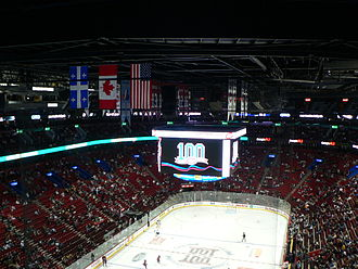 Bell Centre - The newly fitted electronic scoreboard in 2008