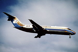 Intercontinental de Aviación Flight 256 - An Intercontinental de Aviación McDonnell Douglas DC-9-15, similar to the one involved