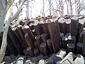Interlocked basaltic columns at of Kavadia mountain.jpg