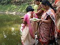 Inviting Goddess Ganga - Hindu Sacred Thread Ceremony - Simurali 2009-04-05 4050062.JPG