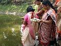 Inviting Goddess Ganga - Hindu Sacred Thread Ceremony - Simurali 2009-04-05 4050062.JPG
