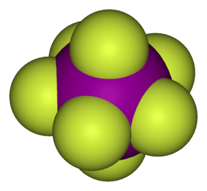 Pentagonal bipyramidal molecular geometry - Structure of iodine heptafluoride, an example of a molecule with the pentagonal-bipyramidal coordination geometry.