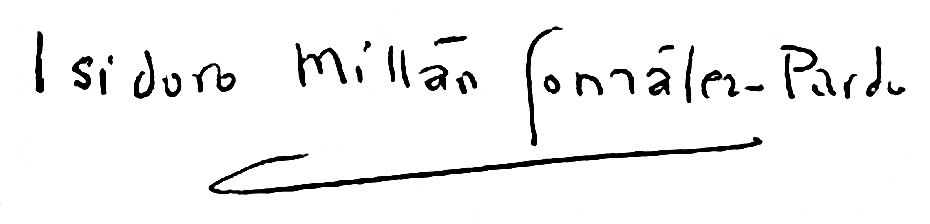 Isidoro Millán González-Pardo firma