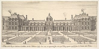 Tuileries Palace - The Tuileries Palace in the 1600s