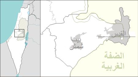 أميناداف على خريطة Israel