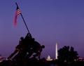Iwo Jima Memorial at dusk, Washington, D.C LCCN2011630601.tif