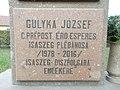 József Gulyka plaque, 2019 Isaszeg.jpg