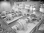 JPL Three large compressors used by the 20-inch Supersonic Wind Tunnel in building 79.291-87C.jpg