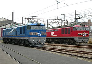 JRE EF510-501 and JRF EF510-1 in Omiya 20100522.jpg