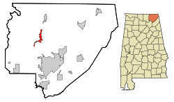 Location in Quận Jackson, Alabama