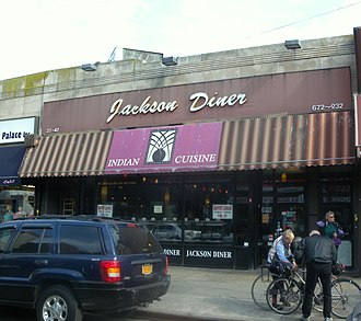 Jackson Heights, Queens - The Jackson Diner, an Indian restaurant on 74th Street