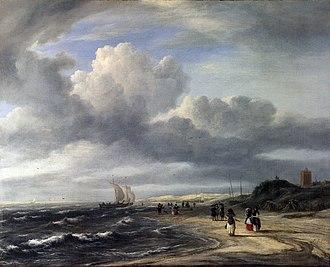 View of Egmond aan Zee - Image: Jacob Isaacksz. van Ruisdael The Shore at Egmond an Zee WGA20500