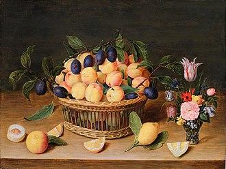 Jacob van Hulsdonck - Still Life with Fruit and Flowers