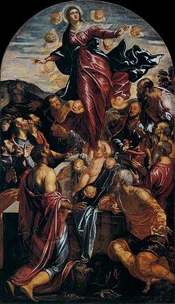 Jacopo Tintoretto - Assumption of the Virgin - WGA22444