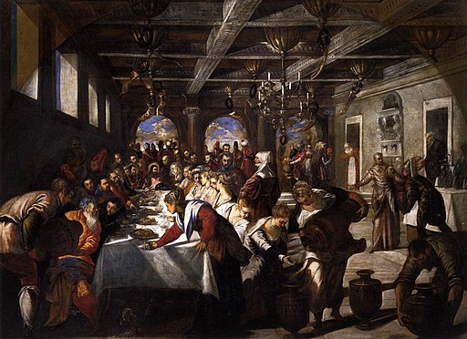 Jacopo Tintoretto - Marriage at Cana - WGA22470