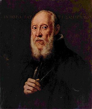 Jacopo Sansovino - Portrait of Jacopo Sansovino by Tintoretto.