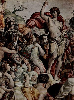 Jacopino del Conte - Frescoes in the Oratory of San Giovanni Decollato (detail).
