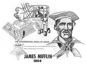 Union Navy - James Mifflin, a Union Navy sailor who was awarded the Medal of Honor.