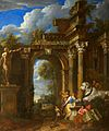 Jan Baptist Huysmans and Jan Erasmus Quellinus - A ruined classical archway.jpg