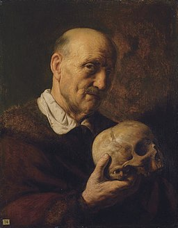 Jan Lievens - old man with a skull 1620s