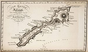 Eggøya - Image: Jan Mayen map 1820 by William Scoresby
