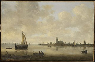 View of Dordrecht from the Oude Maas