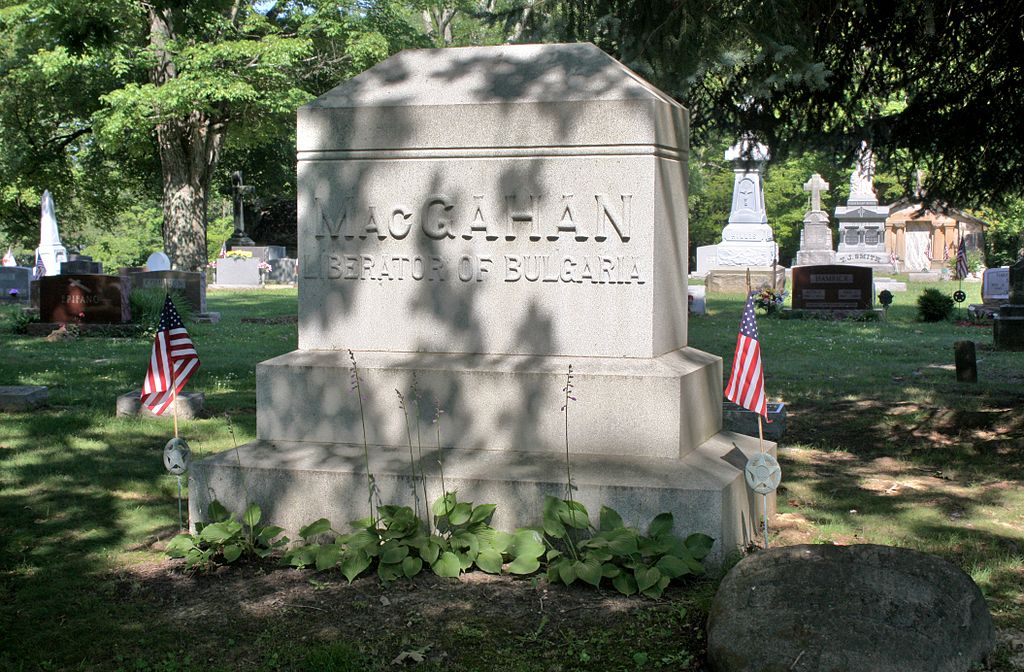 Januarius MacGahan in New Lexington Cemetery, Ohio-2011 07 05 IMG 0361
