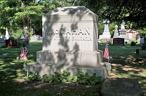 "Januarius MacGahan - MacGahan's grave, identifying him as the ""Liberator of Bulgaria"".  New Lexington Cemetery, in his hometown of New Lexington, Ohio."