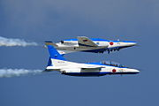 Japan air self defense force Kawasaki T-4 Blue Impulse RJST Calypso.JPG