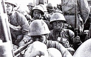 Battle of Zaoyang–Yichang - Japanese troops in the battle of Zaoyang-Yichang.