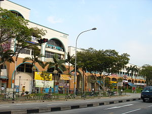 Jurong East - Shophouses at Jurong East, near the Jurong East MRT Station