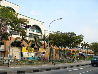 Yuhua, Singapore - The town centre along Jurong Gateway Road