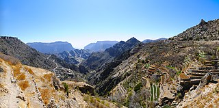 mountain range in Oman