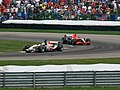 Jenson Button and Christijan Albers 2006 Indianapolis.jpg