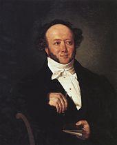 Jeremias Gotthelf, Bildnis von Johann Friedrich Dietler (um 1844). (Quelle: Wikimedia)