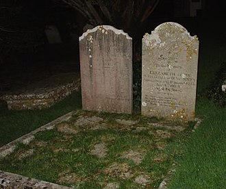 Benjamin Jesty - Graves of Benjamin (left) and Elizabeth (right) Jesty in the churchyard at Worth Matravers.
