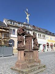 Sousoší svatého Vavřince, svatého Jana Nepomuckého a svatého Kříže
