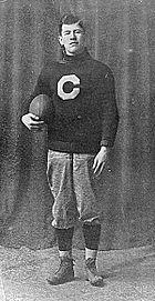 Jim Thorpe in Carlisle Indian Industrial School uniform, about 1909