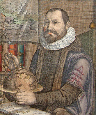 Emery Molyneux - Jodocus Hondius (1563–1612), the Flemish engraver and cartographer who printed the gores of Molyneux's globes – from Atlas or a Geographicke Description of the World (1636)