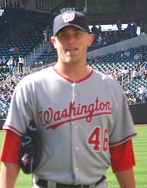 Joe Bisenius - Bisenius with the Nationals in 2010