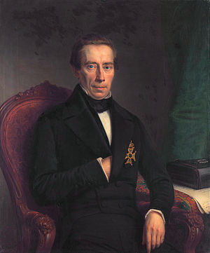 Liberalism in the Netherlands - Johan Rudolph Thorbecke in 1852, during his first term as Prime Minister.