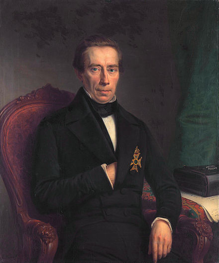 Johan Rudolph Thorbecke in 1852, during his first term as Prime Minister.