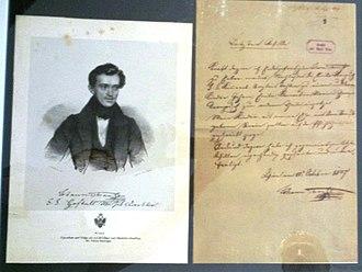 Museum der Johann Strauss Dynastie - Image: Johann Strauss I Testament