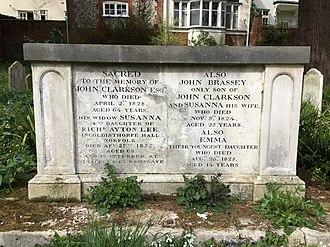 John Clarkson (abolitionist) - The grave of John Clarkson in the graveyard of St Mary the Virgin, Woodbridge